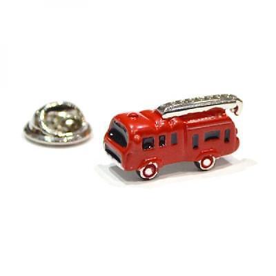 Red 3D Fire Engine Lapel Pin Badge Fireman Firefighter Children Toy Badges New