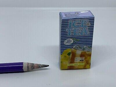 B015 Dollhouse Miniature Carton of iced lemon tea migros supermarket 1:3