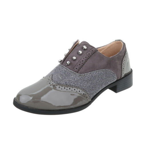 Moderne Halbschuhe Slipper Damenschuhe 4338 Ital-design