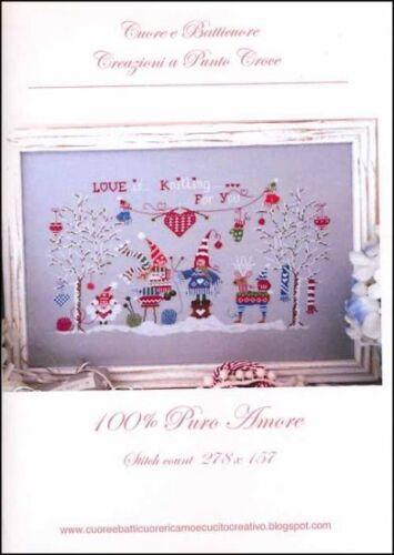 10/% Off Cuore e Batticuore Counted X-stitch Chart 100/% Puro Amore