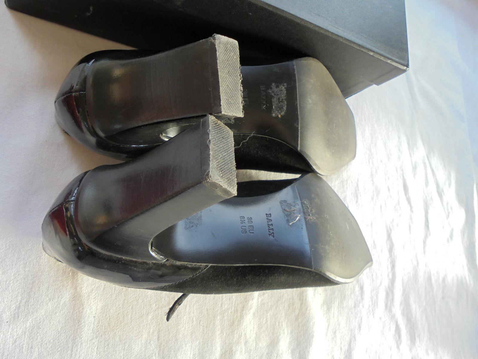 Bally Designer Lackleder Tasche Pumps NP  Sandaletten Schuhe Tasche Lackleder Gr 39 95bc20