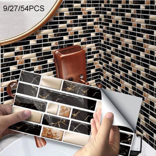 3D Mosaik Fliesenaufkleber Wandaufkleber Küche Bad Fliesenfolie Klebefolie 2020