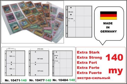 25 EXTRA STARKE SAMMELHÜLLEN KARTENHÜLLEN A4 140my 9x  90x67 mm Für Pokemon