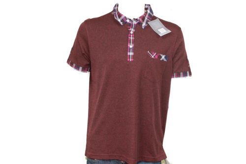 Mens Short Sleeve Polo T-Shirts Pockets Casual Smart Green Grey Red Blue