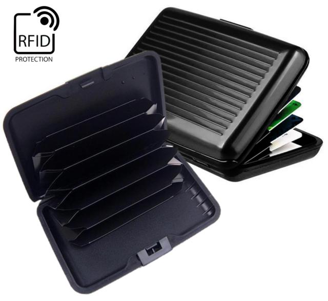da9a7728b165 Slim Waterproof Wallet Credit Card ID Aluminum Holder RFID Blocking Case