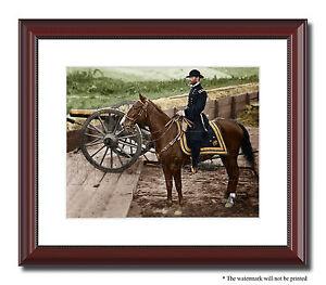 image is loading gen sherman atlanta fort horse 11x14 framed photo - Horse Pictures Print Color