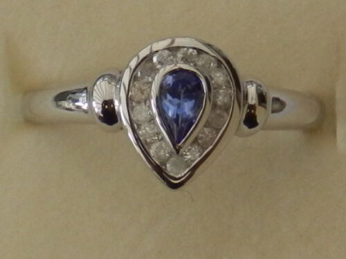 Details about  /BEAUTIFUL NEW 9CT WHITE GOLD TANZANITE /& DIAMOND RING R8938W