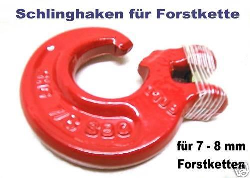 Bolzen u Schlinghaken mit Gabelkopf für 8mm Forstkette Rückekette incl Stift