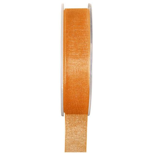 Organzaband 3 mm x50 M Orange Fixation Mariage Bande geschenkband