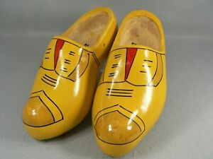 Dutch Wooden Clogs Shoes Hand Carved