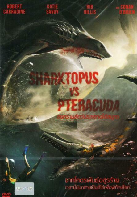 Sharktopus vs pteracuda coloring pages | 640x444
