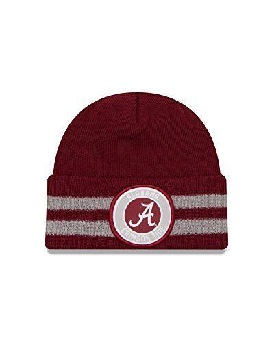 9565352b776 ... sale alabama crimson tide 2 striped ncaa remix cuffed knit hat ebay  791c4 fb666