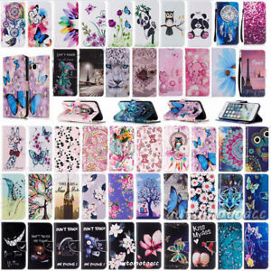 For Samsung Galaxy A3 A5 (2017) Leather Flip Wallet Case Cover Stand Magnetic