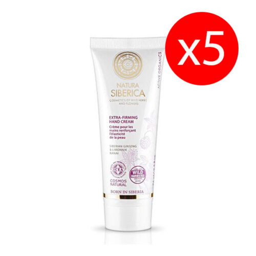 Pack 5 units CREAM HAND EXTRA FIRMING 75 ml NATURA SIBERICA KROUS