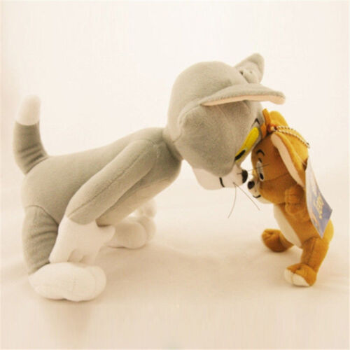 Cute Soft Tom and Jerry Plush Doll Cartoon Stuffed Animal Toy Anime Cat /& Mouse
