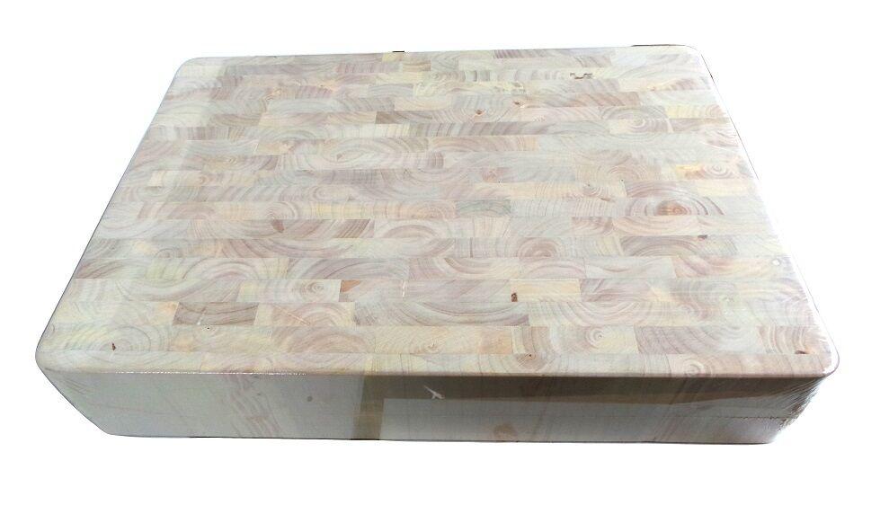Gingko bois rectangulaire en bois planche à hacher fin grain 600mm x 400mm x 100 mm