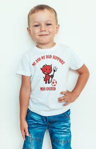 kid/'s Man united FC football team inspired T shirt or baby bodysuit