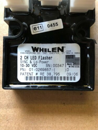 WHELEN 2 Channel 8 Output LED Flasher Unit With Sync /& Scan Lock 01-0269642..