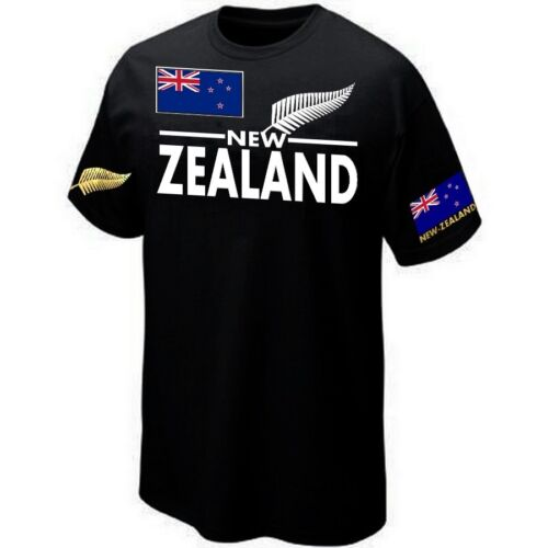 T-Shirt NEW-ZEALAND RUGBY SUPPORTER ALL BLACKS Maillot