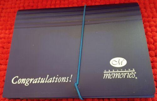 Creative Memories Collection Organize Photo Files Dark Blue Congratulations New