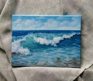 Art-12-034-9-034-The-wave-oil-painting-Seascape-ocean-waves-surf-landscape-art-for-you
