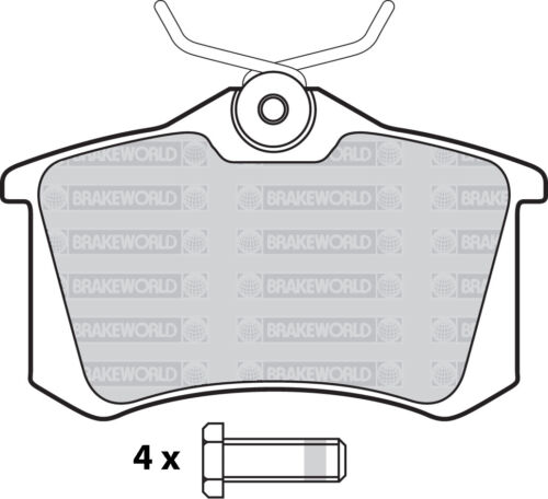 OEM SPEC FRONT AND REAR PADS FOR SKODA OCTAVIA 1U 1.8 TURBO VRS 180 BHP 2001-06