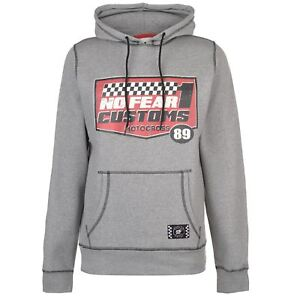 e6d6947f79 Details about No Fear Mens Custom Motox Track OTH Hoody Hoodie Hooded Top  Long Sleeve Warm