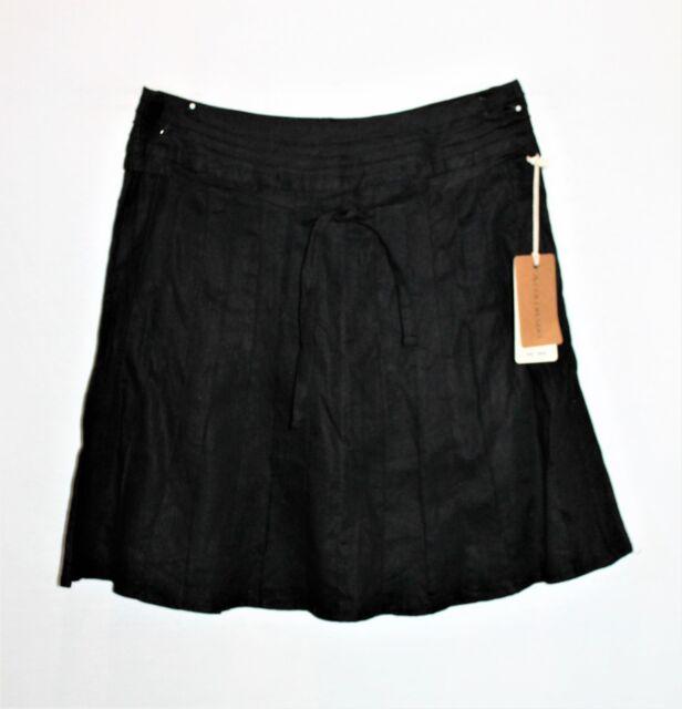 Colorado Brand Black Pure Linen A-Line Skirt Size 12 BNWT #TD120