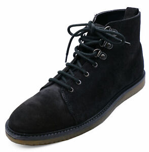 mens black leather laceup dealer smart casual ankle boots