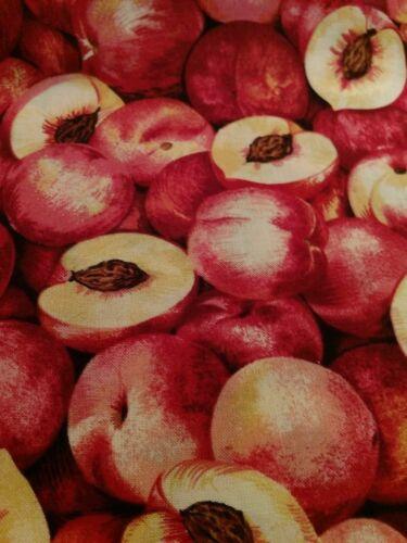 nectarines 45 X 55 cm thème fruits Pêches Coupon de tissu Patchwork Makower