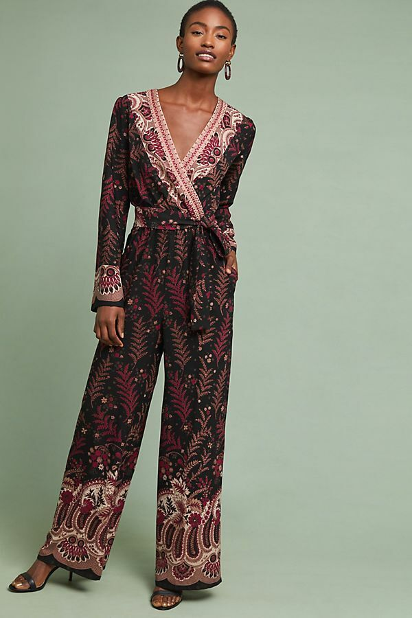 178 Anthropologie  Breezeway Embroidered Jumpsuit S new nwt