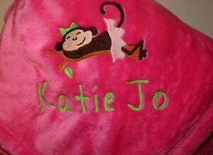 Personalized Monogrammed Baby Blanket - Soft Tahoe Fleece ...