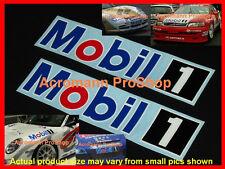 "2x 8.5"" 21.6cm MOBIL 1 decal sticker ONE motor oil NASCAR F1 DTM BTCC lubricant"