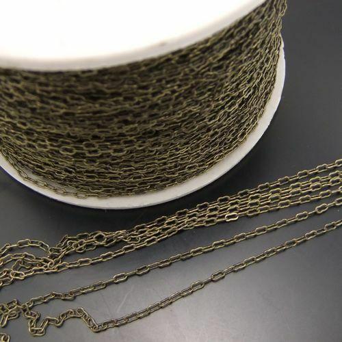 5M//Pack Antique Bronze Alloy Oval Link Chain  Necklace Bracelet DIY Accessories