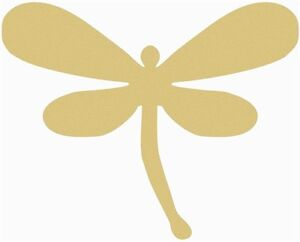 Dragonfly Style 2 Unfinished MDF Cutout Variety of Sizes USA Made Kids