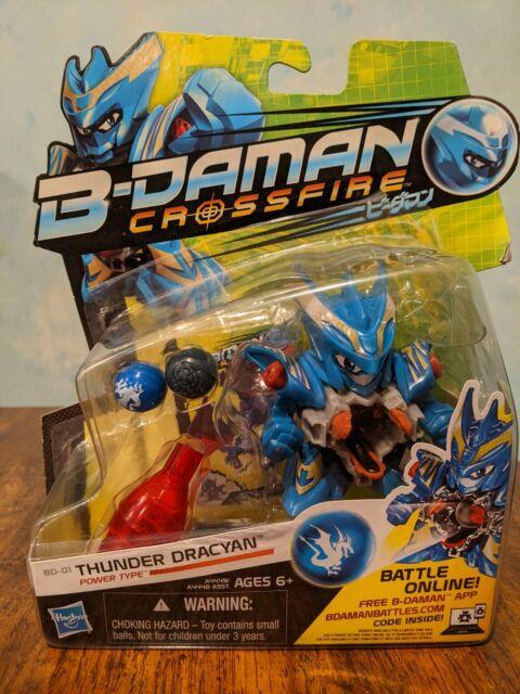 Hasbro B-Daman Crossfire BD-01 Children/'s Thunder Dracyan Figure Toy for Kids