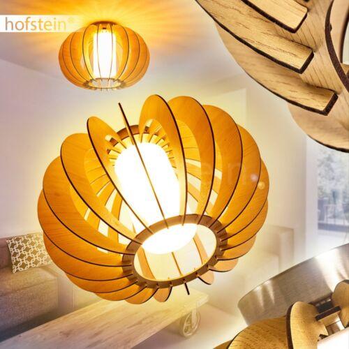Retro Holz Decken Lampen rund Flur Dielen Küchen Wohn Schlaf Zimmer Beleuchtung