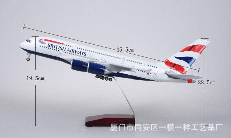 prezzi bassissimi 1 160 Scale British Airlines modello A380 LED LED LED Passenger Aircraft Plane giocattoli  disegni esclusivi