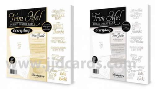 Everyday Gold /& Silver Trim Me Foiled Insert Pads TRIMINS003/&4 Hunkydory
