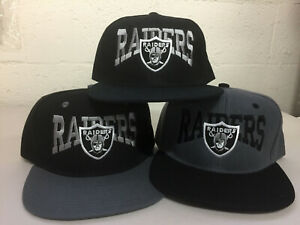 1470e663b46 Oakland Raiders Writing Snap Back Cap Hat Embroidered Las Vegas Flat ...
