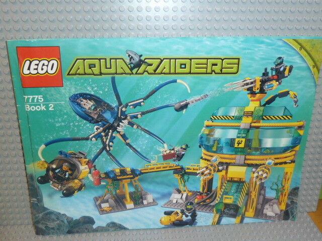 Lego ® Aquazone de recette 7775 7775 7775 acquabase Invasion ungelocht instruction b976 | Nouvelle Arrivée  b78482