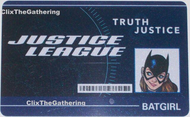 dc heroclix world s finest batgirl id card wfid 006 ebay