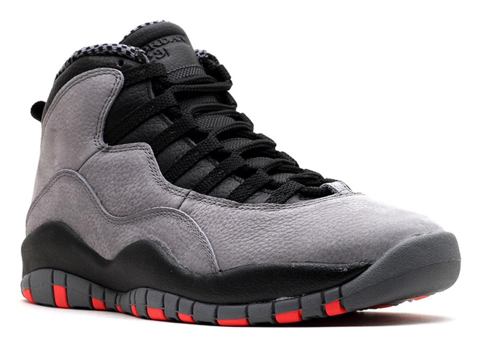 Air Jordan 10 X Retro 'Cool Grey' Infrared Black basketball 310805-023