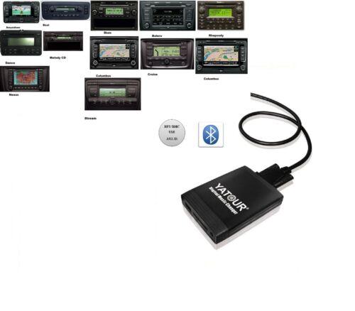 Bluetooth USB SD AUX mp3 2 pin adaptador adecuado para Skoda Fabia 2 II 5j a partir de 2007