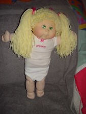 """Cabbage Patch Kids Yellow Yard Hair 20"""" Made For  Baby Land General Hospital"""