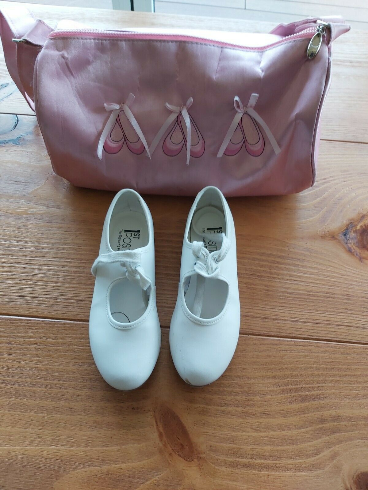 First Position Tap Shoes - UK Size 13 (Good Condition + Free Shoe Bag)