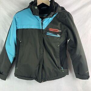 OBERMEYER-Ski-Snowboard-Winter-Jacket-Coat-Sz-12-Kids-Youth-Insulated-Parka-Gray