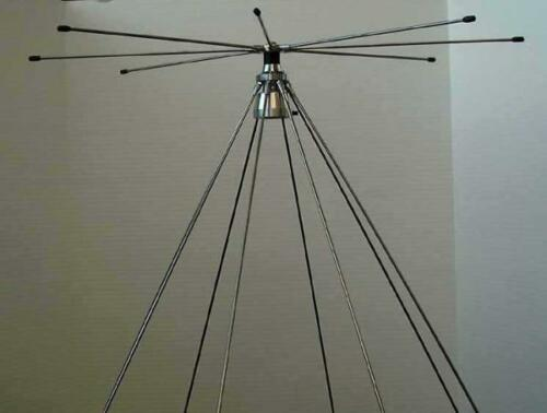 TRAM 1410 SCANNER DISCONE ANTENNA 25-1300 MHZ WITH HAM RADIO TRANSMIT