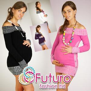 Women's Maternity Cardigan Very Soft Boat Neck Tunic Jumper FR04