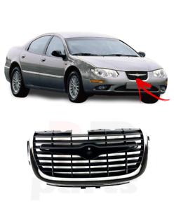 Per Chrysler 300M 99-01 Anteriore Radiatore Griglia Nero Con Cromo Alta Qualità